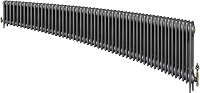 Eastgate Victoriana 3 Column 54 Section Cast Iron Radiator 450mm High x 3285mm Wide - Metallic Finish
